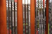 Suvi Ollikainen's stick in the women's hockey locker room in St. Cloud, Minn., Saturday, Nov. 17, 2018. (Photo/Janine Alder)